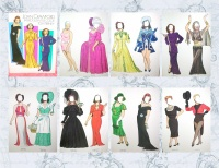 Image for Joan Crawford Paper Dolls in Full Color Vintage 1983 Tom Tierney Book UNCUT <b><span style='color:red'>  *****FIRST CLASS SHIPPING INCLUDED – DOMESTIC ORDERS ONLY!*****  </span></b><span style='color:purple'>