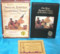 Image for Hamilton Mint Bicentennial Planner of The Nation's Capitol with Official Medal Mint-in-Box Commemorative Set with COA Vintage 1976 <b><span style='color:red'>  *****PARCEL POST SHIPPING INCLUDED – DOMESTIC ORDERS ONLY!*****  </span></b><span style='color:purple'>