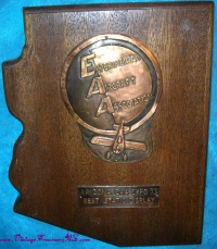 "Image for EAA (Experimental Aircraft Association) Vintage 1973 ""Arizona EAA Expo 73 Best Static Display"" Private Aviation Award Plaque <b><span style='color:red'>  *****PARCEL POST SHIPPING INCLUDED – DOMESTIC ORDERS ONLY!*****  </span></b><span style='color:purple'>"