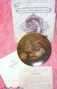 "Image for Norman Rockwell Plate ""The Ship Builder"" Vintage 1980 Numbered Limited Edition Bradford Exchange Mint-in-Box <b><span style='color:red'>  *****PRIORITY MAIL SHIPPING INCLUDED – DOMESTIC ORDERS ONLY!*****  </span></b><span style='color:purple'>"