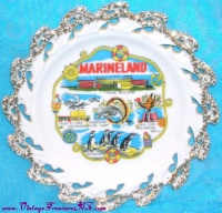 Image for Marineland Souvenir Vintage ca 1950s-1960s EFCCO Made in Japan Collector Plate (Marineland of the Pacific)  <b><span style='color:red'>  *****PRIORITY MAIL SHIPPING INCLUDED – DOMESTIC ORDERS ONLY!*****  </span></b><span style='color:purple'>