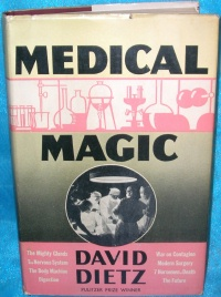 Image for Medical Magic Vintage 1938 Illustrated Book by David Dietz 1st Edition with Dust Jacket  <b><span style='color:red'>  *****MEDIA MAIL SHIPPING INCLUDED – DOMESTIC ORDERS ONLY!*****  </span></b><span style='color:purple'>