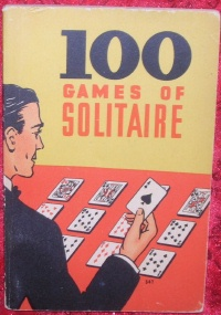 Image for 100 Games of Solitaire Vintage 1939 Games/Gaming Book <b><span style='color:red'>*****FIRST CLASS SHIPPING INCLUDED – DOMESTIC ORDERS ONLY!*****  </span></b><span style='color:purple'>