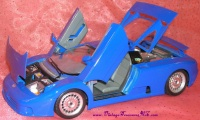Image for Bburago Bugatti EB110 1:18 1991 Royal Blue Diecast Model Car Replica Toy Made in Italy <b><span style='color:red'>  *****PRIORITY MAIL SHIPPING INCLUDED – DOMESTIC ORDERS ONLY!*****  </span></b><span style='color:purple'>