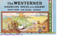 Image for Westerner Gambling House & Saloon (The Westerner) Las Vegas Casino Vintage 1951 Postcard <b><span style='color:red'>*****FIRST CLASS SHIPPING INCLUDED – DOMESTIC ORDERS ONLY!*****  </span></b><span style='color:purple'>
