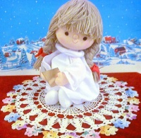 Image for Lullabye & Good Night (Brahm's Lullaby) Vintage Sankyo Japan Musical Motion Cloth Christmas Angel Bedtime Doll <b><span style='color:red'>  *****PRIORITY MAIL SHIPPING INCLUDED – DOMESTIC ORDERS ONLY!*****  </span></b><span style='color:purple'>