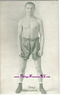 Image for Tony Canzoneri Boxing Exhibit Card Vintage ca 1920s-1930s    <b><span style='color:red'>  *****FIRST CLASS SHIPPING INCLUDED – DOMESTIC ORDERS ONLY!*****  </span></b><span style='color:purple'>