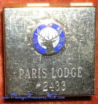 Image for Elks Paris Texas Lodge 2433 (B.P.O.E.) Vintage Pillbox/Stamp Box Case <b><span style='color:red'>  *****FIRST CLASS SHIPPING INCLUDED – DOMESTIC ORDERS ONLY!*****  </span></b><span style='color:purple'>