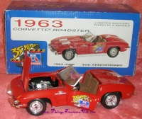 Image for Big A Auto Parts 1998 35-Years 1963-1998 Limited Edition Commemorative Diecast Replica Model 1963 Red Corvette Stingray Car Toy Mint-in-Box  <b><span style='color:red'>  *****PRIORITY MAIL SHIPPING INCLUDED – DOMESTIC ORDERS ONLY!*****  </span></b><span style='color:purple'>