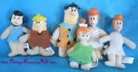 Image for Flintstones Characters Felt Ornament Toys Set of 6 (Fred, 2 Wilma's, Pebbles, Barney & Betty) Vintage ca 1989  <b><span style='color:red'>  *****FIRST CLASS SHIPPING INCLUDED – DOMESTIC ORDERS ONLY!*****  </span></b><span style='color:purple'>