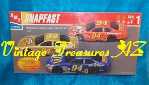Image for AMT Ertl Snapfast McDonald's Racing Team Limited Edition Collector Set Scale 1:25 Model Kit #30116-1HD Three NASCAR Race Cars Set 1998 (BRAND NEW FACTORY-SEALED BOX)    <b><span style='color:red'> USPS PRIORITY MAIL SHIPPING INCLUDED – DOMESTIC ORDERS ONLY!</span></b><span style='color:purple'>