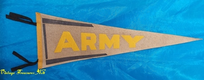Image for ARMY Large-sized Vintage ca 1930s-1950s Collectible Pennant (? West Point) Military Wall Hanging Man Cave/Home/Office/Sports Bar Decor  <b><span style='color:red'>***USPS PRIORITY MAIL SHIPPING INCLUDED – DOMESTIC ORDERS ONLY!***</span></b><span style='color:purple'>