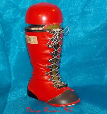 Image for <b><span style='color:purple'> Arizona Distributing Company Red Santa Boot Liquor/Wine Decanter Bottle Vintage ca 1940s-1960s RARE </span></b><span style='color:purple'>  <b><span style='color:red'> ***USPS PRIORITY MAIL SHIPPING INCLUDED – DOMESTIC ORDERS ONLY!***-</span></b><span style='color:purple'>