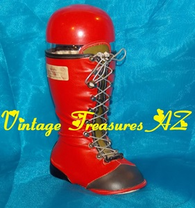 Image for Arizona Distributing Company Red Boot Liquor/Wine Decanter Bottle Vintage ca 1940s-1960s RARE <b><span style='color:red'> USPS PRIORITY MAIL SHIPPING INCLUDED – DOMESTIC ORDERS ONLY!</span></b><span style='color:purple'>