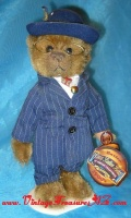 "Image for Brass Button Bears ""Baxter"" 1900s Businessman Costumed Good Luck & Prosperity Teddy Bear - 20th Century Collectibles Line - Commemorating the Millennium Turn-of-the-Century (comes with Stand, Tags & Button) <b><span style='color:red'>  *****PRIORITY MAIL SHIPPING INCLUDED – DOMESTIC ORDERS ONLY!*****  </span></b><span style='color:purple'>"