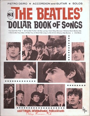 Image for <b><span style='color:purple'>   The Beatles' Dollar Book of Songs Vintage 1964-1965 Sheet Music Songbook (15 Songs for Accordion, Guitar & Solos)  </span></b><span style='color:purple'>    <b><span style='color:red'>***USPS FIRST CLASS SHIPPING INCLUDED – DOMESTIC ORDERS ONLY!***</span></b><span style='color:purple'>