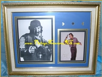 "Image for Belushi Brothers (James/Jim & John) Movie Scenes  Photos Pair Elaborately Matted & Framed-Under-Glass - James Belushi Autographed (Autograph) ""James Bond 007""-esque Gun Pose Hand-Signed 1991 Color Photograph AND John Belushi as ""Wild Bill Kelso"" Unsigned ""1941"" Film B&W Photo   <b><span style='color:red'>*****STANDARD PARCEL POST SHIPPING INCLUDED – DOMESTIC ORDERS ONLY!*****</span></b><span style='color:purple'>"