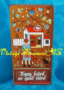 "Image for Berggren Trayner Cutting Board/Bread Board Vintage 1962 Kitchen Wall Hanging Plaque Swedish Proverb Saying ""Egen Härd Är Guld Värd"" (One's Own Stove Is Worth Gold) Shabby Chic  <b><span style='color:red'>USPS FIRST CLASS SHIPPING INCLUDED – DOMESTIC ORDERS ONLY!</span></b><span style='color:purple'>"