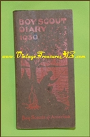 Image for Boy Scout (Scouts) Diary 1930 Vintage Illustrated book (Partially Used -   5 Calendar Entries)  <b><span style='color:red'>*****FIRST CLASS SHIPPING INCLUDED – DOMESTIC ORDERS ONLY!*****</span></b><span style='color:purple'>