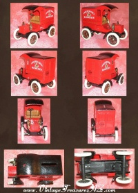 Image for Budweiser Beer Anheuser-Busch Ertl 10th-in-a-Series Red 1905 Ford Delivery Truck Antique Replica Diecast Car Advertising Locking Coin Bank & Key <b><span style='color:red'>  *****PRIORITY MAIL SHIPPING INCLUDED – DOMESTIC ORDERS ONLY!*****  </span></b><span style='color:purple'>