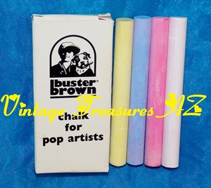 Image for Buster Brown Chalk for Pop Artists Vintage ca 1960s Advertising Premium Promotional Giveaway Collectible Buster Brown Shoes SUPER RARE (Unused/Mint in Box)  <b><span style='color:red'>***USPS FIRST CLASS SHIPPING INCLUDED – DOMESTIC ORDERS ONLY!***</span></b><span style='color:purple'>