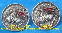 "Image for Swank Knight on Charging Steed Vintage Men's ""Chargers"" Cufflinks/Cuff Links Set  <b><span style='color:red'>  *****FIRST CLASS SHIPPING INCLUDED – DOMESTIC ORDERS ONLY!*****  </span></b><span style='color:purple'>"