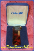 "Image for Colibri ""Pipette"" Tortoiseshell/Tortoise Shell Enamel   Pipe/Cigar/Cigarette Lighter in Original Velvet Gift Presentation Box Vintage ca 1960s-1970s Japan   <b><span style='color:red'>*****FIRST CLASS SHIPPING INCLUDED – DOMESTIC ORDERS ONLY!*****</span></b><span style='color:purple'>"