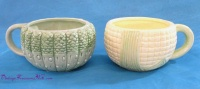 Image for Corn Ears/Corn-on-the-Cob/Corn Kernels-shaped, 3-Dimensional Textured Design Whimsical Art Pottery Handled Coffee Mugs/Soup Bowls Pair  <b><span style='color:red'>  *****PRIORITY MAIL SHIPPING INCLUDED – DOMESTIC ORDERS ONLY!*****  </span></b><span style='color:purple'>