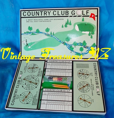 Image for Country Club Golf Board Game Complete/Like New VERY RARE UNIQUE VERSION Novelty Realistic Golf Enthusiasts (T and D Industries Shore Center Sheltered Workshop Illinois)    <b><span style='color:red'>***USPS STANDARD POST SHIPPING INCLUDED – DOMESTIC ORDERS ONLY!***</span></b><span style='color:purple'>