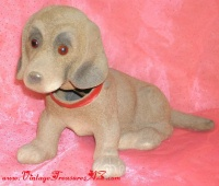 Image for Dachshund Dog Herwi West Germany Flocked Candy Container Nodder Bobble Head Vintage Toy  <b><span style='color:red'>  *****PRIORITY MAIL SHIPPING INCLUDED – DOMESTIC ORDERS ONLY!*****  </span></b><span style='color:purple'>