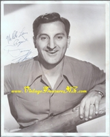 Image for Danny Thomas (in the prime of his career) Vintage ca 1940s-1950s Hand-Signed/Autographed (Autograph) Studio Publicity Still Sepia-toned Photograph/Photo  <b><span style='color:red'>*****FIRST CLASS SHIPPING INCLUDED – DOMESTIC ORDERS ONLY!*****</span></b><span style='color:purple'>