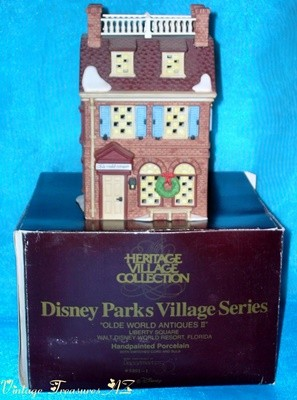 Image for <b><span style='color:purple'>   Department 56 (Dept. 56) Disney Parks Village Series Olde World Antiques II 1994 Liberty Square Walt Disney World Resort Florida Hand-painted Porcelain Building #5351-1 & Original Box (RETIRED 1996) </span></b><span style='color:purple'>   <b><span style='color:red'> USPS PRIORITY MAIL SHIPPING INCLUDED – DOMESTIC ORDERS ONLY!</span></b><span style='color:purple'>