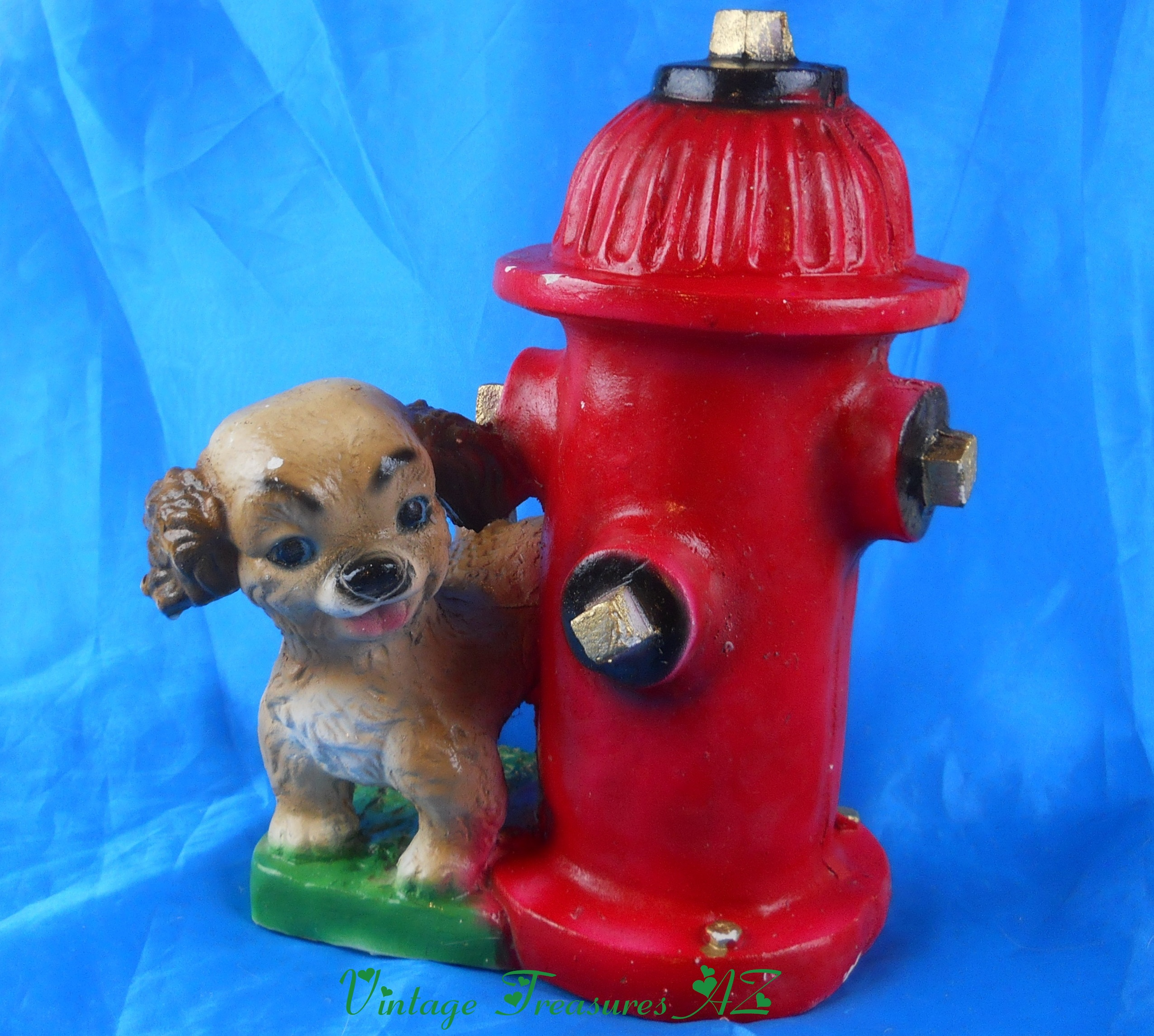 Image for <b><span style='color:purple'>   Dog Peeing On A Fire Hydrant RARE Huge Vintage Chalkware Coin Bank Made in Mexico </span></b><span style='color:purple'>   <b><span style='color:red'>***GROUND SHIPPING INCLUDED – DOMESTIC ORDERS ONLY!***</span></b><span style='color:purple'>