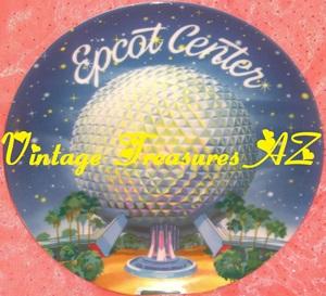 Image for EPCOT Center Vintage 1982 (Grand Opening Year) Disney Japan Theme Park Exclusive Early EPCOT Souvenir Plate Spaceship Earth Geodesic Sphere   <b><span style='color:red'> USPS PRIORITY MAIL SHIPPING INCLUDED – DOMESTIC ORDERS ONLY!</span></b><span style='color:purple'>