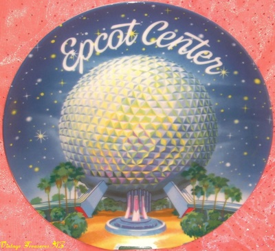 Image for <b><span style='color:purple'>    EPCOT Center Plate Vintage 1982 (Grand Opening Year) RARE Disney Japan Theme Park Souvenir Exclusive Early Commemorative Collectible Spaceship Earth Geodesic Sphere </span></b><span style='color:purple'>   <b><span style='color:red'> ***USPS PRIORITY MAIL SHIPPING INCLUDED – DOMESTIC ORDERS ONLY!***</span></b><span style='color:purple'>