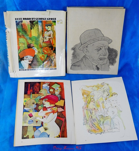 Ecce Homo George Grosz Henry Miller Introduction Illustrated Erotica Art  Book PLUS 2 Laid-In Color Plates Suitable for Framing Vintage 1966 ***USPS