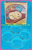 Image for English Muffin Rings Fox Run Craftsmen Set of 4 in Original Box Vintage ca 1960s-1970s (Recipes Included)  <b><span style='color:red'>*****FIRST CLASS SHIPPING INCLUDED – DOMESTIC ORDERS ONLY!*****</span></b><span style='color:purple'>