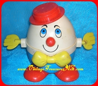 "Image for Fisher Price ""Humpty Dumpty"" Pull Toy #736 Vintage ca 1960s-1970s  <b><span style='color:red'>*****PRIORITY MAIL SHIPPING INCLUDED – DOMESTIC ORDERS ONLY!*****</span></b><span style='color:purple'>"