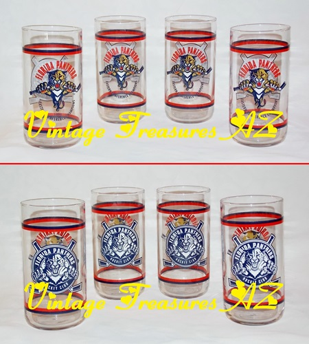 Image for <b><span style='color:purple'>  Florida Panthers 1996 Eastern Conference Champions/Florida Panthers Hockey Club NHL Souvenir Libbey Beverage Drinking Glasses/Tumblers Set of 4 UNUSED  </span></b><span style='color:purple'>    <b><span style='color:red'>***USPS STANDARD POST SHIPPING INCLUDED – DOMESTIC ORDERS ONLY!***</span></b><span style='color:purple'>