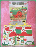 Image for Fun Farm Antique ca 1920s-1930s Diecut/Die-Cut Lithographed Paper Cutouts Village Diorama 24-piece Set/Kit in Original Packaging (COMPLETE & UNCUT) by The Dime Line/Reed & Associates, Inc.  <b><span style='color:red'>*****FIRST CLASS SHIPPING INCLUDED – DOMESTIC ORDERS ONLY!*****</span></b><span style='color:purple'>