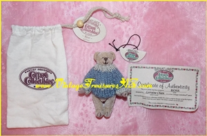 "Image for GANZ Cottage Collectibles RETIRED ""Ross"" #CC7010 Miniature Bear by Lorraine Chien with Tags, COA & Cloth Drawstring Carrying/Storage Bag  <b><span style='color:red'>*****FIRST CLASS SHIPPING INCLUDED – DOMESTIC ORDERS ONLY!*****</span></b><span style='color:purple'>"