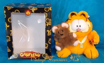 "Image for <b><span style='color:purple'> Garfield & Pooky ""Best Friends"" RARE 20th Anniversary Stuffed Animals Plush Toys Special Edition Set in Original Box ""20 Years of Garfield Party On!"" Musical Collector's Edition </span></b><span style='color:purple'>   <b><span style='color:red'>***GROUND SHIPPING INCLUDED – DOMESTIC ORDERS ONLY!***</span></b><span style='color:purple'>"