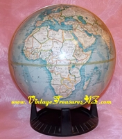 "Image for American Geographical Society Vintage 1963 ""Around the World"" Replogle Globes, Inc. Terrestrial Globe, Stand & Geometer Three (3)-piece Set   <b><span style='color:red'>*****STANDARD POST SHIPPING INCLUDED – DOMESTIC ORDERS ONLY!*****</span></b><span style='color:purple'>"