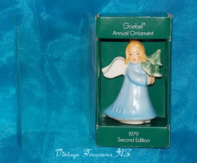 Image for <b><span style='color:purple'> Goebel Angel Girl Vintage Porcelain Annual Ornament 1979 Second Edition in Original Box (Like New)  </span></b><span style='color:purple'>    <b><span style='color:red'> ***USPS FIRST CLASS SHIPPING INCLUDED – DOMESTIC ORDERS ONLY!***</span></b><span style='color:purple'>