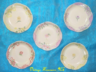 "Image for <b><span style='color:purple'>  Haviland France Antique Floral China Painting One-of-a-Kind Berry/Dessert/Finger Bowls Set Artist-signed ""Adda Bartow"" </span></b><span style='color:purple'> 
