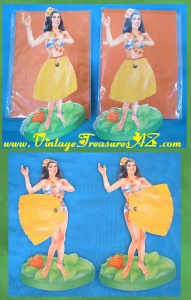 Image for Hawaiian Hula Dancing/Dancers Girls Vintage ca 1970s-1980s Mechanical Paper Dolls Stand-alone Hallmark Tom Brundage Greeting Cards Pair (Mint in Package/Unused)  <b><span style='color:red'>*****FIRST CLASS SHIPPING INCLUDED – DOMESTIC ORDERS ONLY!*****</span></b><span style='color:purple'>