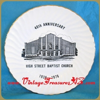 Image for High Street Baptist Church Springfield, Missouri 40th 1936-1976 Anniversary Commemorative Plate Vintage  <b><span style='color:red'>*****PRIORITY MAIL SHIPPING INCLUDED – DOMESTIC ORDERS ONLY!*****</span></b><span style='color:purple'