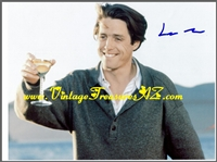 "Image for Hugh Grant ""Nine Months"" Autographed (Autograph) ""Champagne Toast/Toasting"" Movie Scene Hand-Signed Color Photograph/Photo & COA (Certificate of Authenticity)   <b><span style='color:red'>*****FIRST CLASS SHIPPING INCLUDED – DOMESTIC ORDERS ONLY!*****</span></b><span style='color:purple'>"
