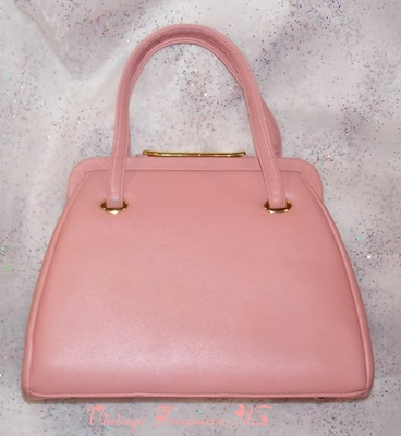 Image for <b><span style='color:purple'> JR Florida USA Julius Resnick Vintage ca 1960s LARGE Pink Mad Men Fashion Style Structured Purse/Handbag </span></b><span style='color:purple'> <b><span style='color:red'>*****USPS RETAIL GROUND SHIPPING INCLUDED – DOMESTIC ORDERS ONLY!*****</span></b><span style='color:purple'>