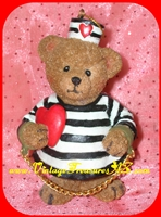 Image for Jail and Bail (Jail &/'n Bail) Teddy Bear American Heart Association Ornament Figurine Fundraiser Souvenir Commemorative/Gift/Prize ca 2002     <b><span style='color:red'>*****PRIORITY MAIL SHIPPING INCLUDED – DOMESTIC ORDERS ONLY!*****</span></b><span style='color:purple'>